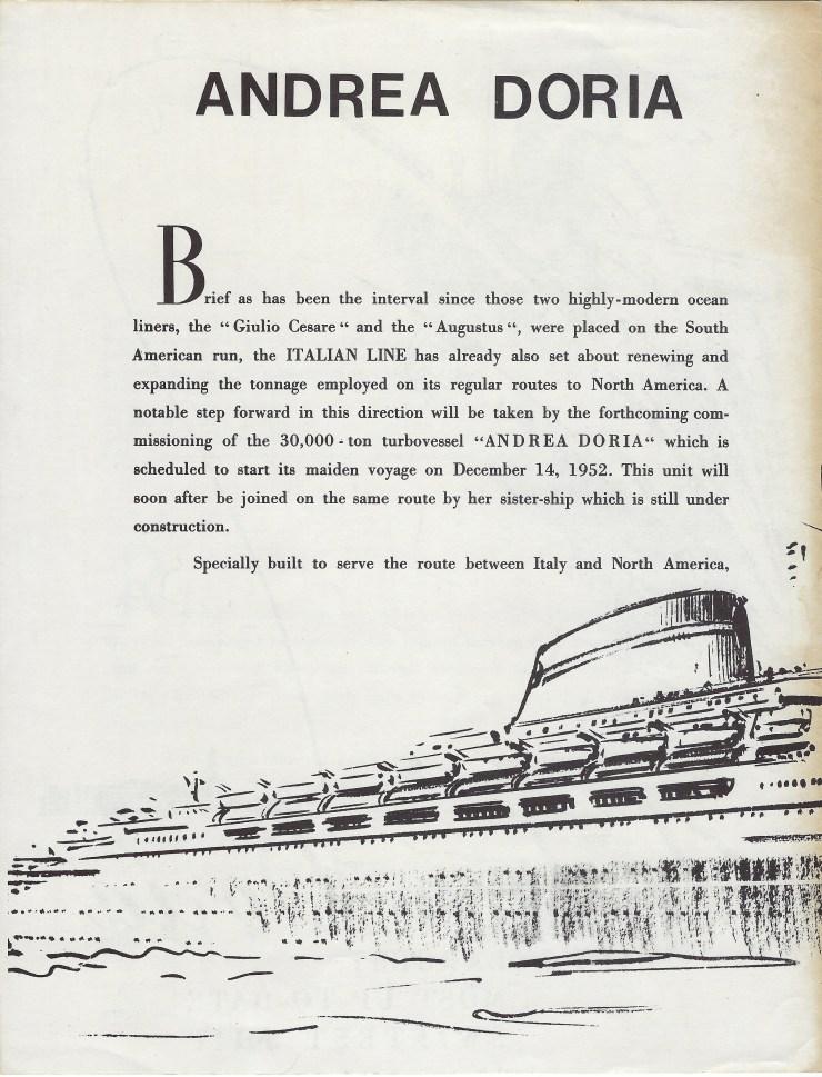 Andrea Doria Brochure 2