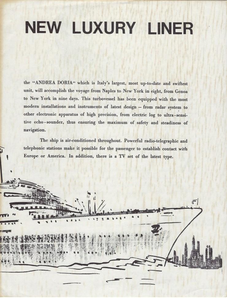 Andrea Doria Brochure 3