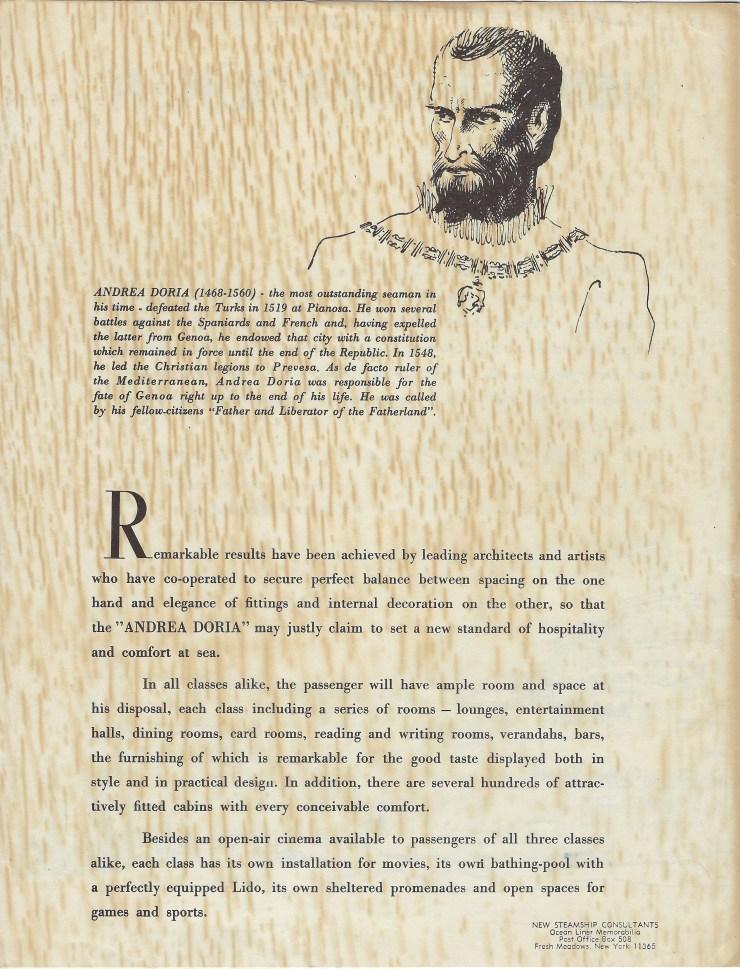Andrea Doria Brochure 4