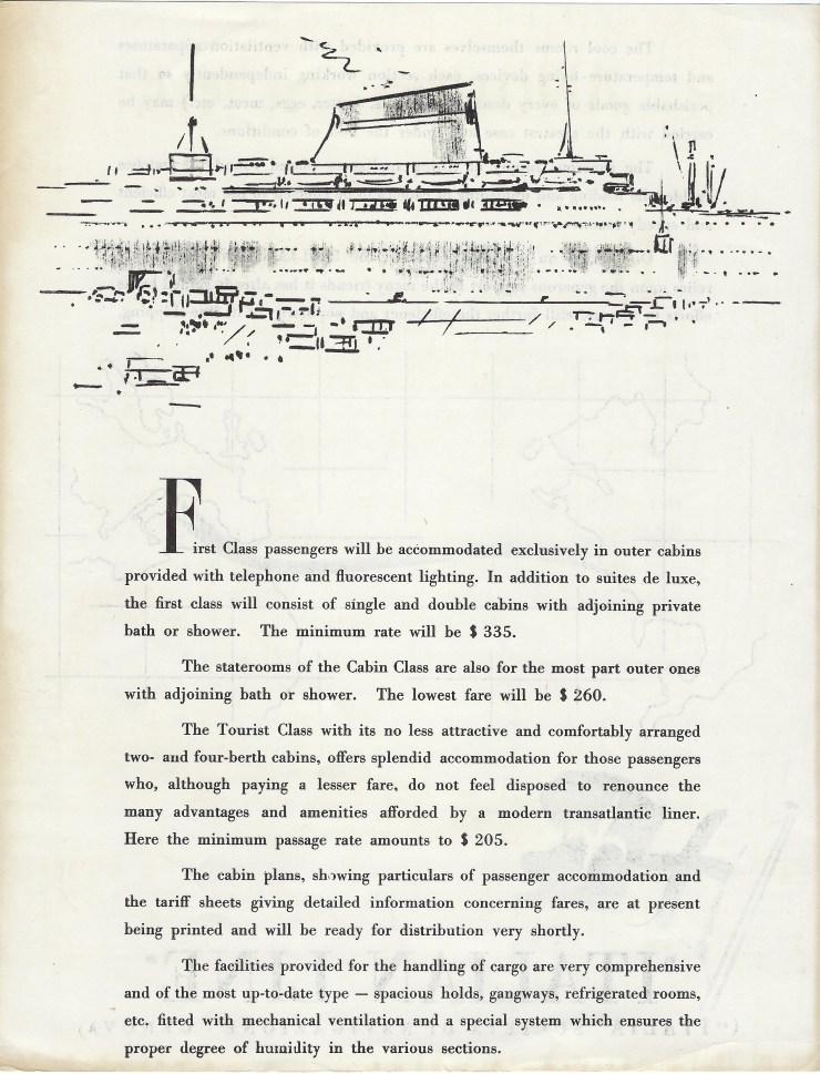 Andrea Doria insert side 1